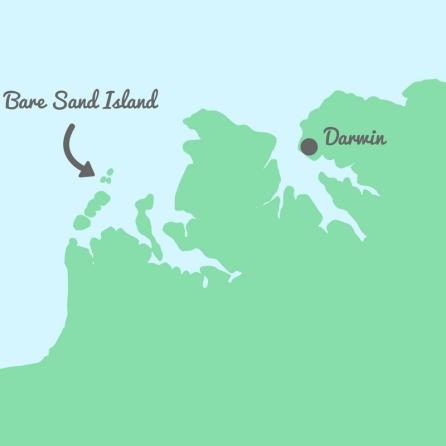 darwinbare sand island